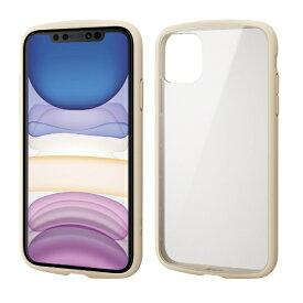 エレコム ELECOM iPhone 11 6.1インチ対応 TOUGH SLIM LITE フレームカラー アイボリー PM-A19CTSLFCIV