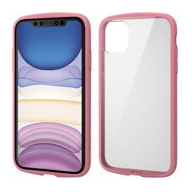 エレコム ELECOM iPhone 11 6.1インチ対応 TOUGH SLIM LITE フレームカラー ピンク PM-A19CTSLFCPN
