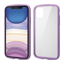 エレコム ELECOM iPhone 11 6.1インチ対応 TOUGH SLIM LITE フレームカラー パープル PM-A19CTSLFCPU
