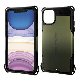 エレコム ELECOM iPhone 11 6.1インチ対応 ZEROSHOCK スタンダード カーキ PM-A19CZEROKH