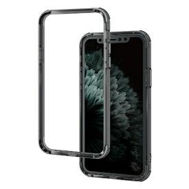 エレコム ELECOM iPhone 11 Pro 5.8インチ対応 ハイブリッドバンパーケース ブラック PM-A19BHVBBK