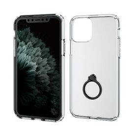 エレコム ELECOM iPhone 11 Pro 5.8インチ対応 ハイブリッドケース リング付 ブラック PM-A19BHVCRBK