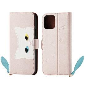 エレコム ELECOM iPhone 11 Pro 5.8インチ対応 ソフトレザーケース 女子向 大ネコ ピンク PM-A19BPLFJA202