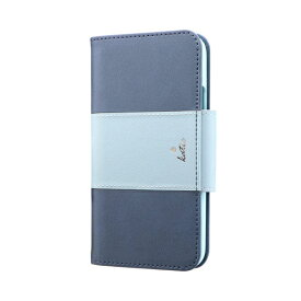 MSソリューションズ iPhone 11 Pro 5.8インチ PREMIER Katie 手帳型ケース ブルー LP-IS19PREKBL