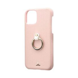 MSソリューションズ iPhone 11 Pro 5.8インチ SHELL RING Katie リング付ケース ピンク LP-IS19SRKPK