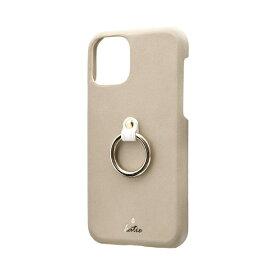 MSソリューションズ iPhone 11 Pro 5.8インチ SHELL RING Katie リング付ケース ベージュ LP-IS19SRKBG