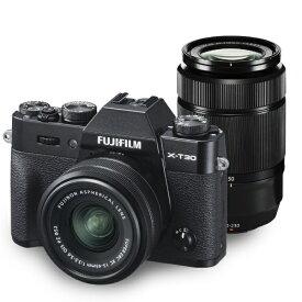 富士フイルム FUJIFILM X-T30WZLK-B ミラーレス一眼カメラ ダブルズームレンズキット FX-T30WZLK-B ブラック [ズームレンズ+ズームレンズ][FXT30WZLKB]