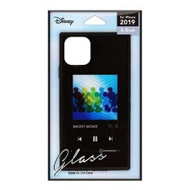 PGA iPhone 11 Pro Max 6.5インチ 用 ガラスハイブリッドケース ミッキーマウス/ブラック PG-DGT19C01MKY