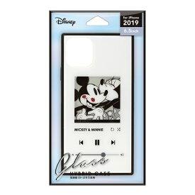 PGA iPhone 11 Pro Max 6.5インチ 用 ガラスハイブリッドケース ミッキーマウス/ホワイト PG-DGT19C02MKY