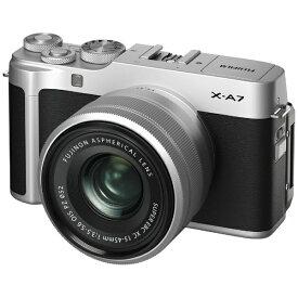 富士フイルム FUJIFILM X-A7LK-S ミラーレス一眼カメラ レンズキット FX-A7LK-S シルバー [ズームレンズ][FXA7LKS]