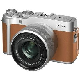 富士フイルム FUJIFILM X-A7LK-CA ミラーレス一眼カメラ レンズキット FX-A7LK-CA キャメル [ズームレンズ][FXA7LKCA]
