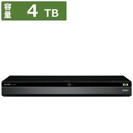 シャープ SHARP 4B-C40BT3 ブルーレイレコーダー AQUOS(アクオス) [4TB /3番組同時録画 /BS・CS 4Kチューナー内蔵][ブルーレイレコーダー 3チューナー 4tb 4BC40BT3]