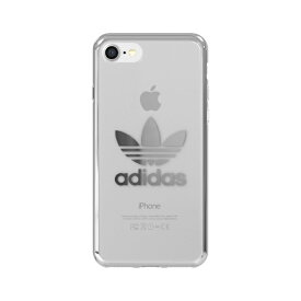 アディダス adidas iPhone 7/8 OR-clear case - Silver logo 37382