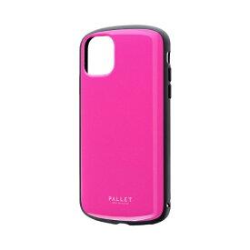 MSソリューションズ iPhone 11 6.1インチ PALLET AIR 耐衝撃ケース ホットピンク LP-IM19PLAHP