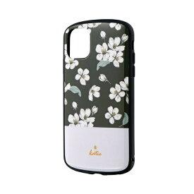 MSソリューションズ iPhone 11 6.1インチ PALLET Katie 耐衝撃ケース フラワーブラック LP-IM19PLKB