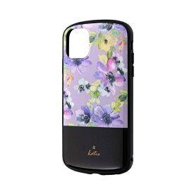 MSソリューションズ iPhone 11 6.1インチ PALLET Katie 耐衝撃ケース フラワーパープル LP-IM19PLKJ