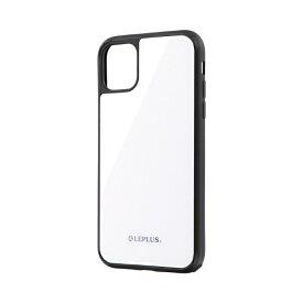 MSソリューションズ iPhone 11 6.1インチ SHELL GLASS ガラスケース ホワイト LP-IM19SGWH