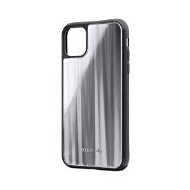 MSソリューションズ iPhone 11 6.1インチ SHELL GLASS ガラスケース シルバー LP-IM19SGSV