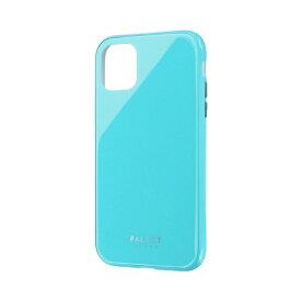MSソリューションズ iPhone 11 6.1インチ SHELL GLASS COLOR ガラスケース ミントグリーン LP-IM19SGCGR