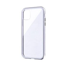 MSソリューションズ iPhone 11 6.1インチ SHELL GLASS Aluminum ガラスケース シルバー LP-IM19SGASV