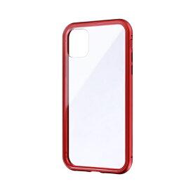 MSソリューションズ iPhone 11 6.1インチ SHELL GLASS Aluminum ガラスケース レッド LP-IM19SGARD