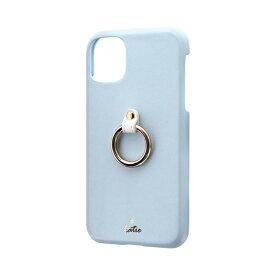MSソリューションズ iPhone 11 6.1インチ SHELL RING Katie リング付ケース ブルー LP-IM19SRKBL