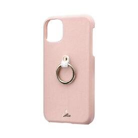 MSソリューションズ iPhone 11 6.1インチ SHELL RING Katie リング付ケース ピンク LP-IM19SRKPK