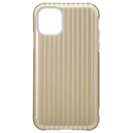 坂本ラヂヲ Rib Hybrid Shell Case for iPhone 11 6.1インチ GLD CHCRB-IP02GLD