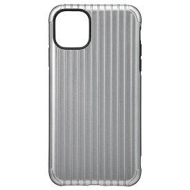 坂本ラヂヲ Rib Hybrid Shell Case for iPhone 11 Pro Max 6.5インチ GRY CHCRB-IP03GRY