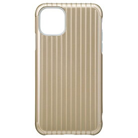 坂本ラヂヲ Rib Hybrid Shell Case for iPhone 11 Pro Max 6.5インチ GLD CHCRB-IP03GLD