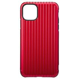 坂本ラヂヲ Rib Hybrid Shell Case for iPhone 11 Pro Max 6.5インチ RED CHCRB-IP03RED