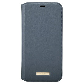 坂本ラヂヲ Shrink PU Leather Book Case for iPhone 11 Pro Max 6.5インチ NVY CBCLS-IP03NVY