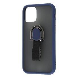 レイアウト rayout iPhone 11 Pro 5.8インチ 耐衝撃マットハイブリッド リング BABY SKIN/ダークNV RT-P23BS2/DN