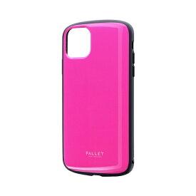 MSソリューションズ iPhone 11 Pro Max 6.5インチ PALLET AIR 耐衝撃ケース ホットピンク LP-IL19PLAHP