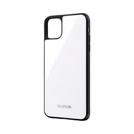 MSソリューションズ iPhone 11 Pro Max 6.5インチ SHELL GLASS ガラスケース ホワイト LP-IL19SGWH