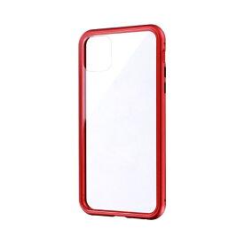 MSソリューションズ iPhone 11 Pro Max 6.5インチ SHELL GLASS Aluminum ガラスケース レッド LP-IL19SGARD