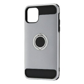 レイアウト rayout iPhone 11 Pro Max 6.5インチ 耐衝撃 リング360/シルバー RT-P22AC2/SV