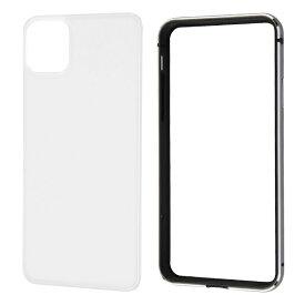 レイアウト rayout iPhone 11 Pro Max 6.5インチ アルミバンパー+背面パネル(クリア)/ブラック RT-P22AB/BM