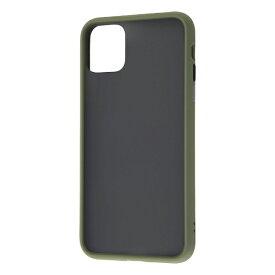 レイアウト rayout iPhone 11 Pro Max 6.5インチ 耐衝撃マットハイブリッド BABY SKIN/カーキ・グリーン RT-P22BS1/G