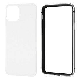 レイアウト rayout iPhone 11 Pro 5.8インチ アルミバンパー+背面パネル(クリア)/ブラック RT-P23AB/BM