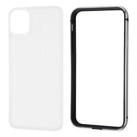 レイアウト rayout iPhone 11 6.1インチ アルミバンパー+背面パネル(クリア)/ブラック RT-P21AB/BM