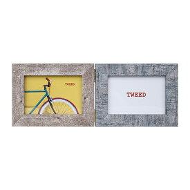 ケンコー・トキナー KenkoTokina 写真たて 「ツイード」 (L/2面ヨコ/レッド&ブルー) PS-TW-LWY-R/B