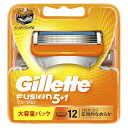 ジレット Gillette Gillette(ジレット) フュージョン 5+1 替刃 12個入 〔ひげそり〕[替え刃 髭剃り ヒゲソリ]