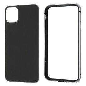 レイアウト rayout iPhone 11 6.1インチ アルミバンパー+背面パネル(マットブラック)/ブラック RT-P21AB2/B