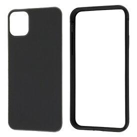 レイアウト rayout iPhone 11 6.1インチ アルミバンパー+背面パネル(マットBK)/マットBK RT-P21AB2/MB