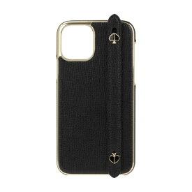 ケイト・スペード ニューヨーク kate spade new york iPhone 11 Pro 5.8インチ WRAP WITH STRAP SPADES black crumbs KSIPH-145-BLKC