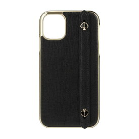 ケイト・スペード ニューヨーク kate spade new york iPhone 11 6.1インチ WRAP WITH STRP SPADES black crumbs KSIPH-146-BLKC