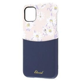 レイアウト rayout iPhone 11 6.1インチ オープンレザー 花柄 ICカード対応/ダークネイビー RT-P21EVC3/DN