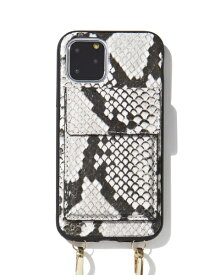 Sonix ソニックス iPhone 11 Pro 5.8インチ Crossbody Case Set Gray Python Leather 290-4002-0011