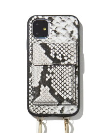 Sonix ソニックス iPhone 11 6.1インチ Crossbody Case Set Gray Python Leather 292-4002-0011